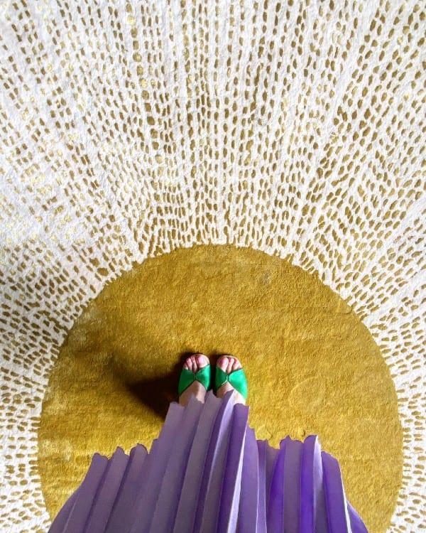 Sunburst Art Deco style rug