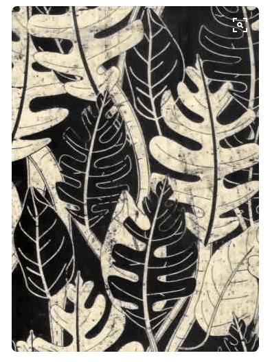 Screen printed batik fabric from Barkcloth
