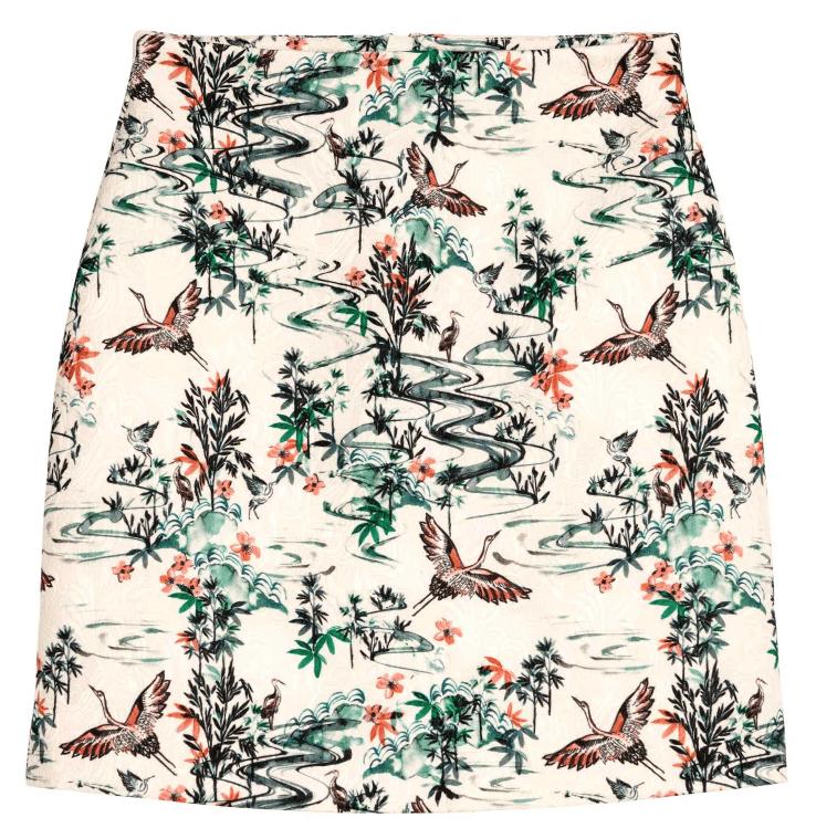 Cute little crane skirt