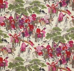 Manuel Canovas 'Les Cavaliers' fabric sparks a bespoke rug commission.