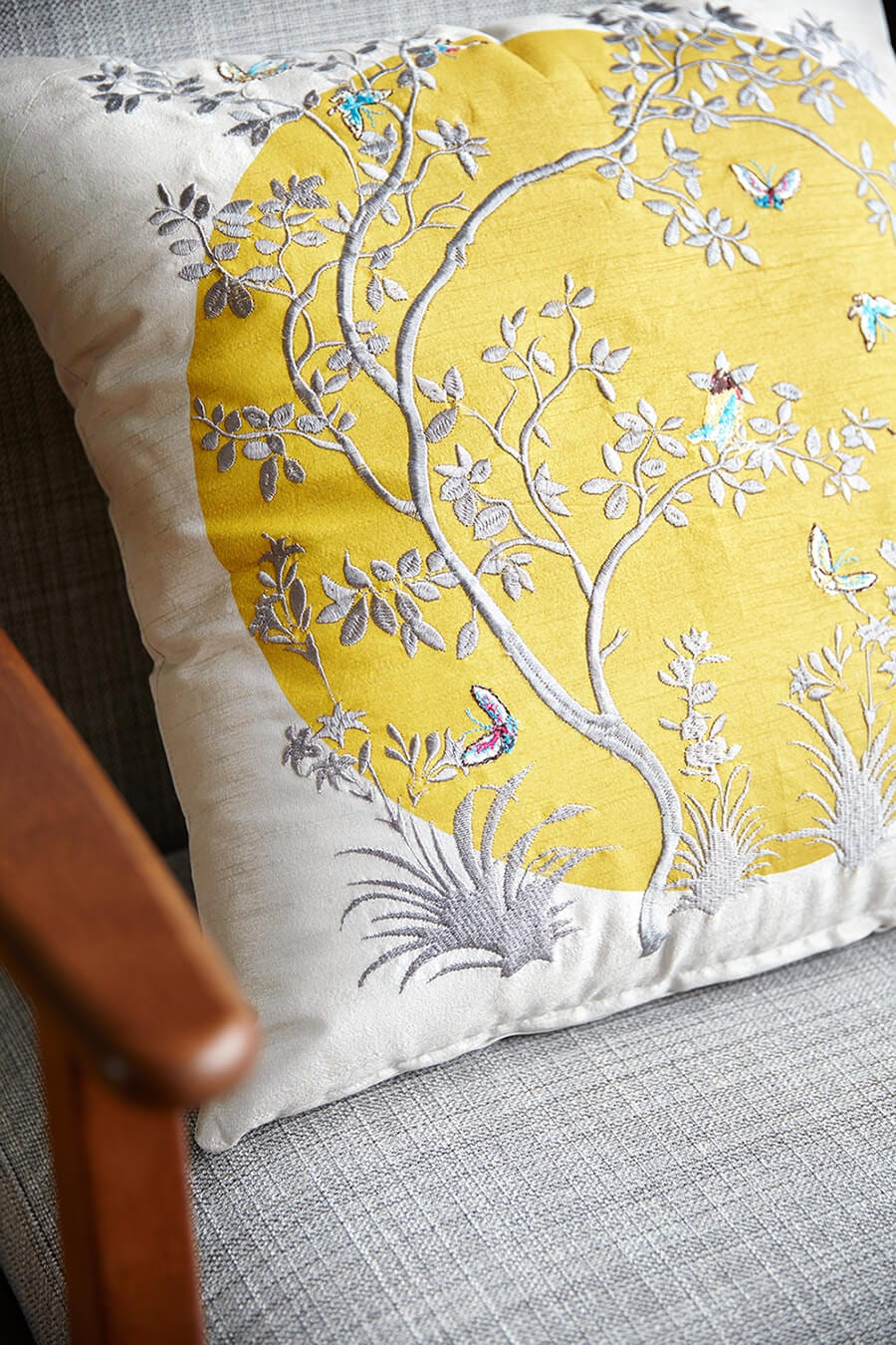 Mandela Moon embroidered cushion