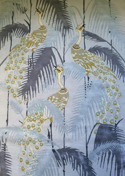 Peacock Palms Rug