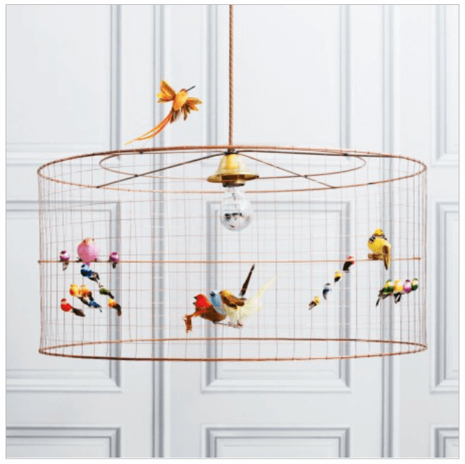 Volières Medium Bird Cage Chandelier from Graham and Greene.