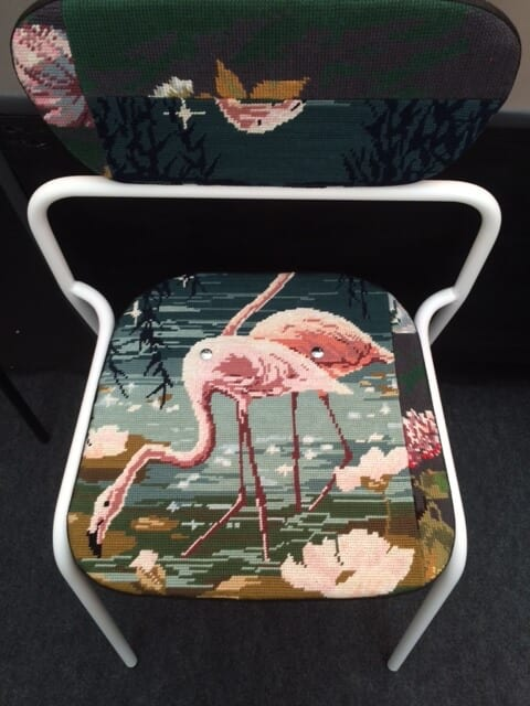 Flamingo tapestry chair by Bobo Boom