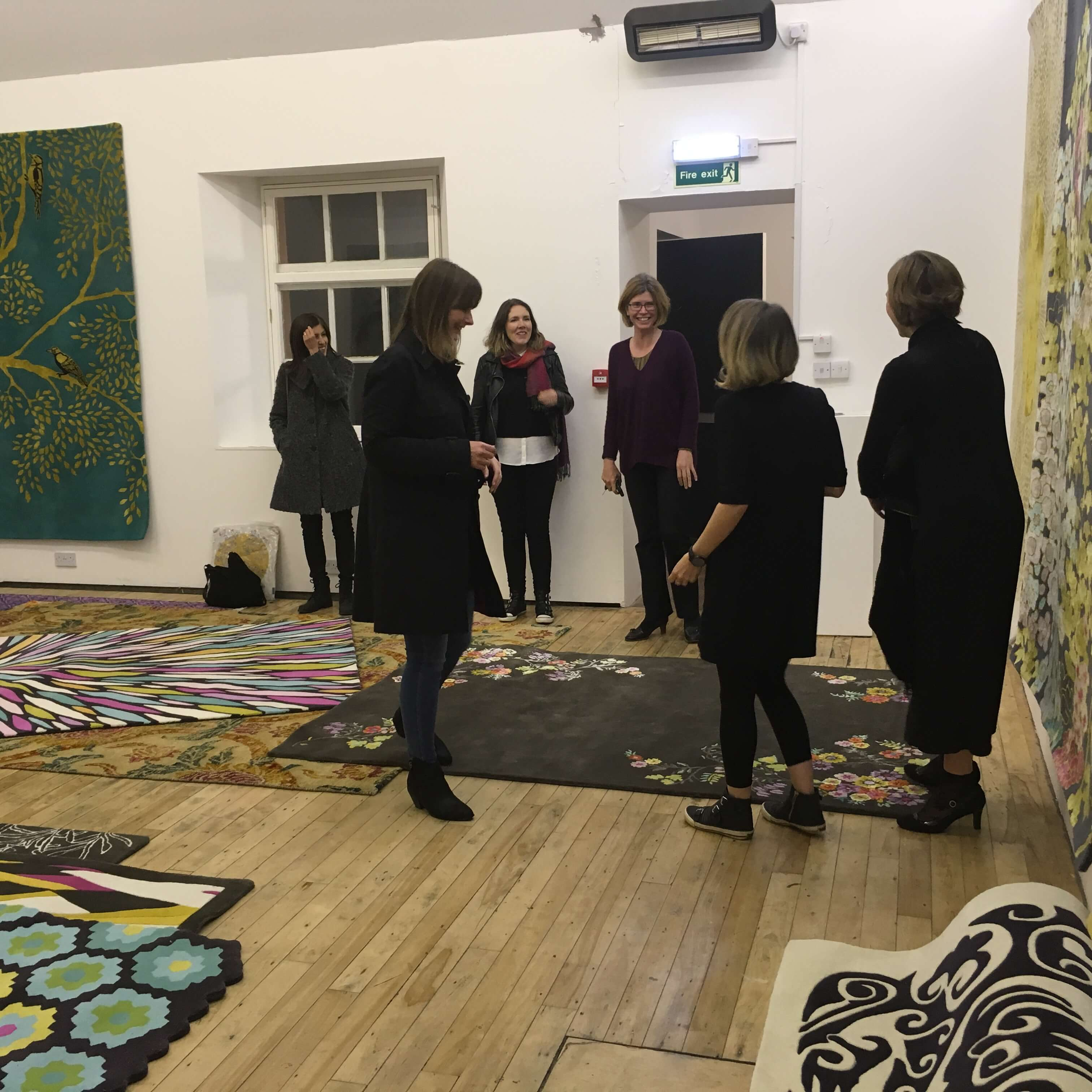 Our Chinese Deco rug getting lots of admirers.