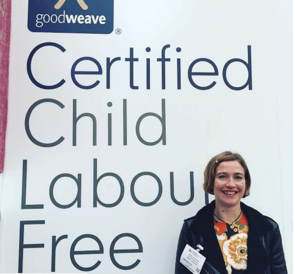Wendy at the GoodWeave Stand at Decorex this year.
