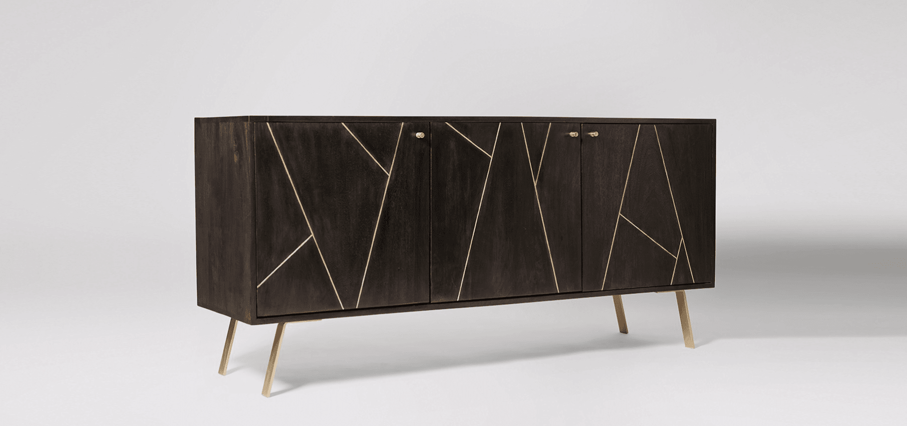 Herning Sideboard in charcoal by Swoon Editions
