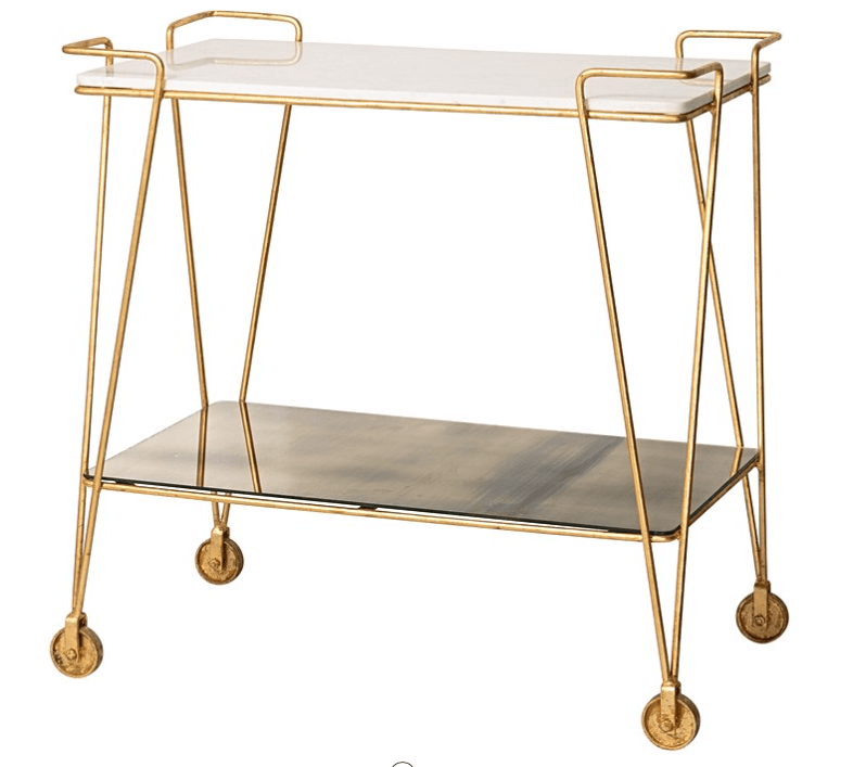 Luxe Drinks Trolley from Oliver Bonas.