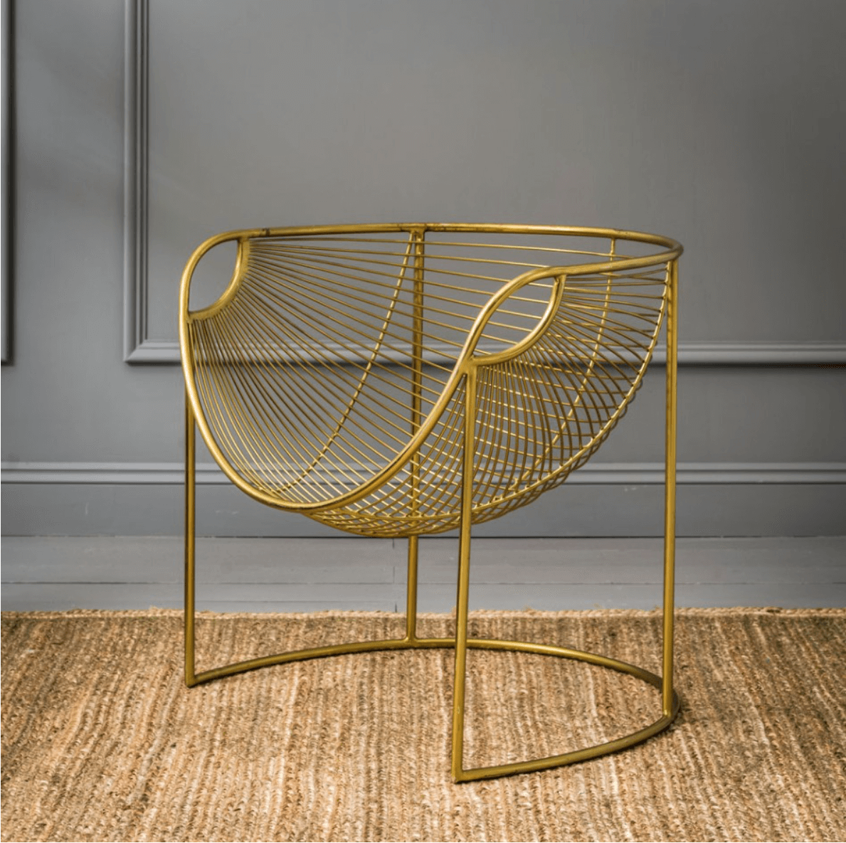 Mulberry Leaf Lounger in Gold, Graham & Green
