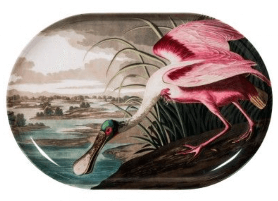 Spoonbill Rectangular Tray from Graham & Green