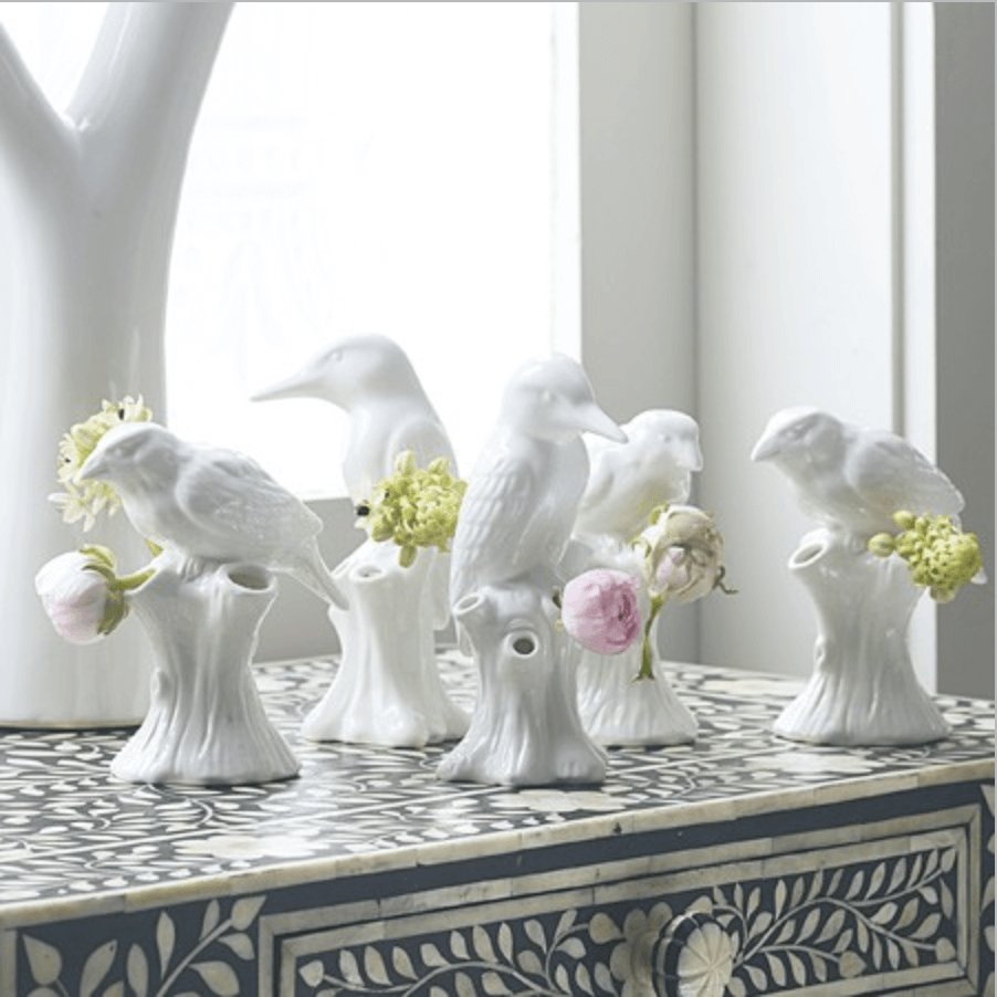 Purist Bird Vases from Graham & Green