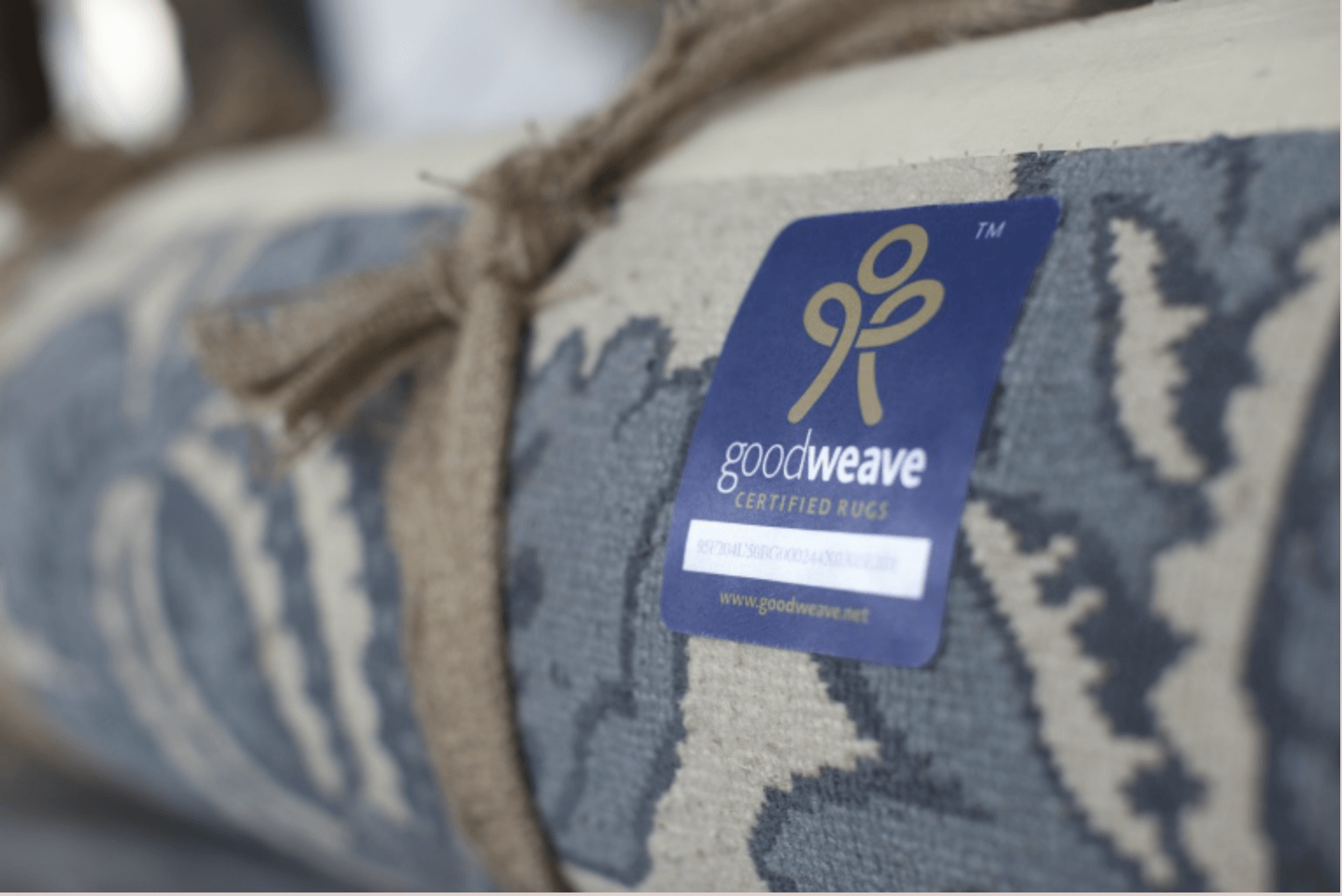 Always look out for the GoodWeave label when buying a rug.