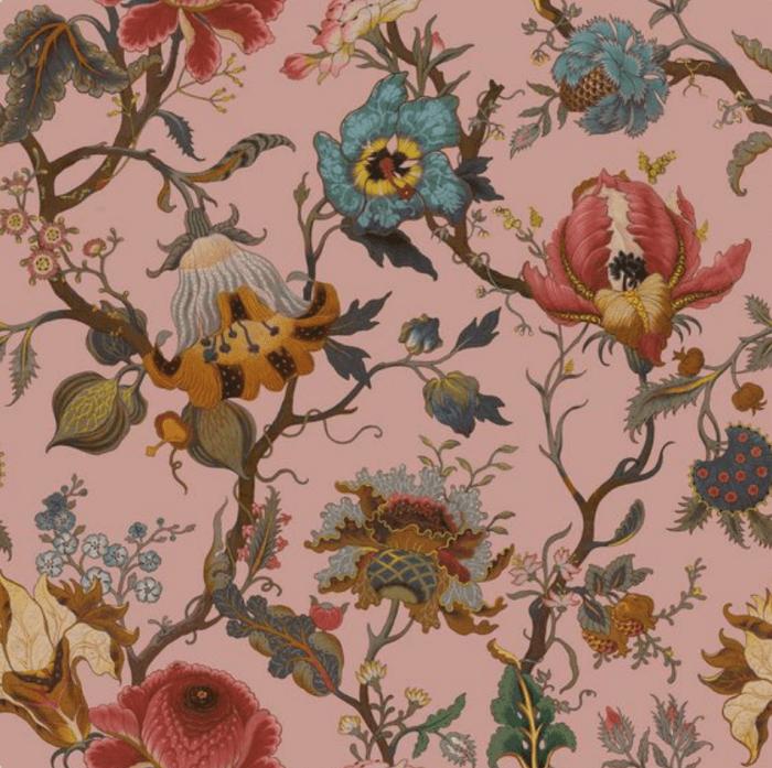 Artemis Wallpaper in Blush by House of Hackney