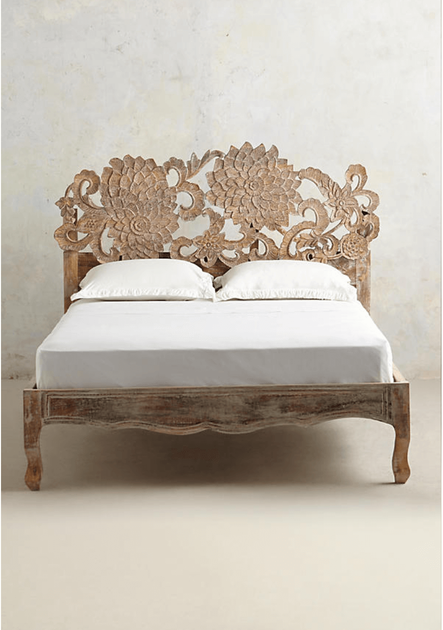 Hand-Carved Lotus Bed from Anthropologie