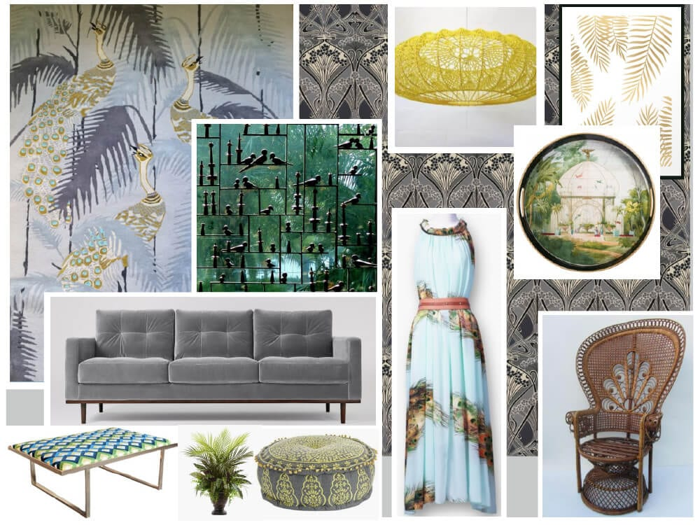 Brilliant Peacock Palms Mood Board Wendy Morrison Design Inzonedesignstudio Interior Chair Design Inzonedesignstudiocom