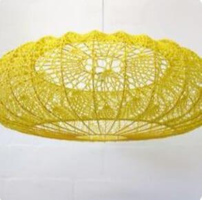 Crochet Lampshade by Moonbasket