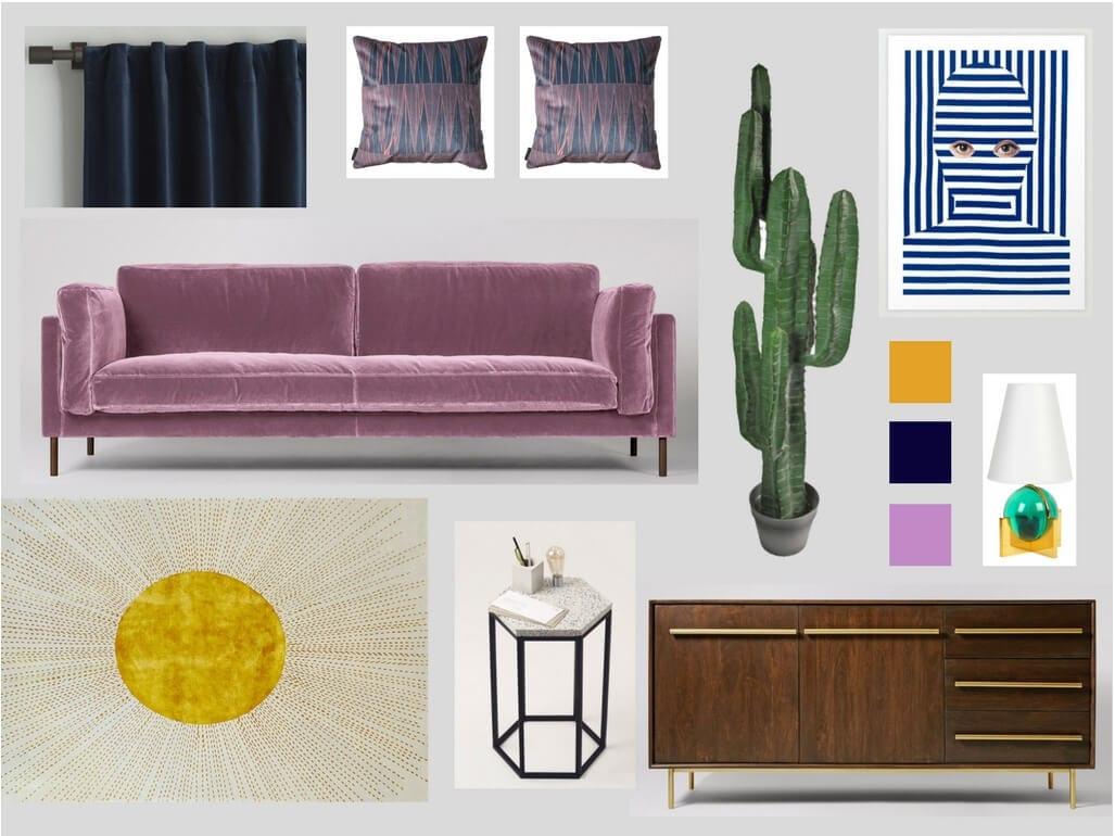 Stylist and blogger Sarah Akwisombe styles Wendy Morrison's Sunburst rug.