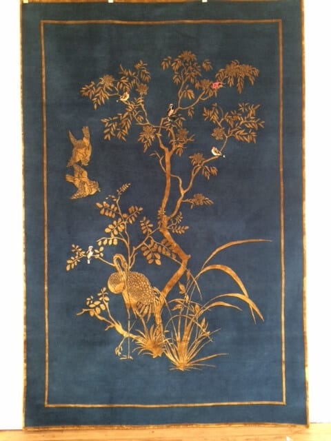 Wendy Morrison hand knotted wool & silk Jardin de Chinois rug