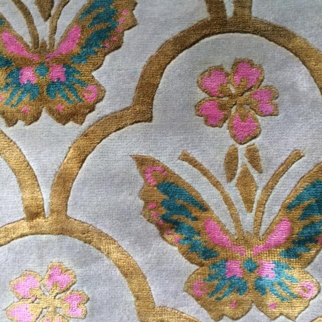 Sample of Wendy Morrison hand knotted Renaissance rug