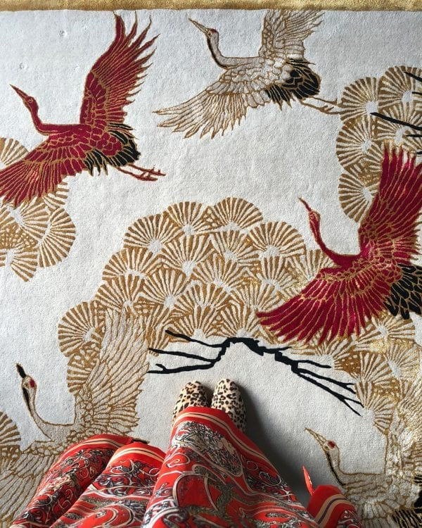 Cranes In Trees rug