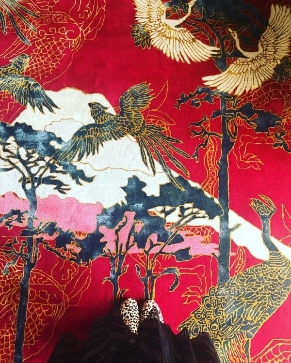 Good Fortune chinoiserie inspired rug