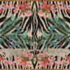 Zebra Leopard Palms complete rug design
