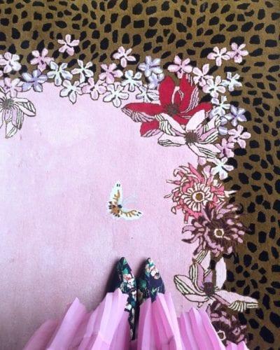 Leopard Florals designer leopard rug