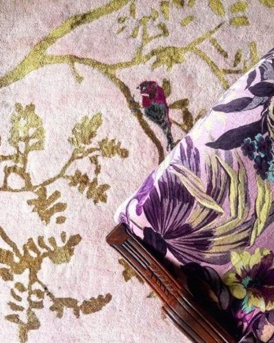 Secret Garden bedroom rug by Wendy Morrison Design