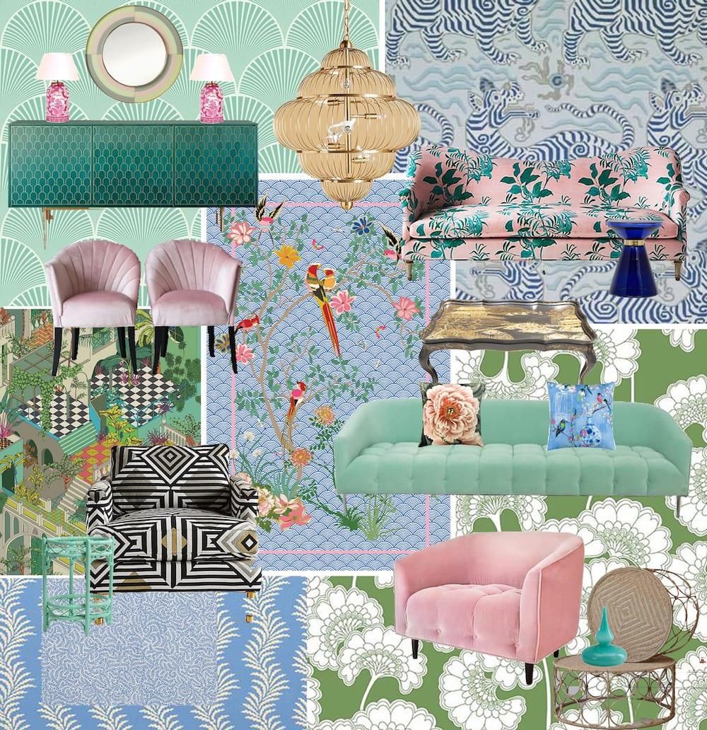 Floral Waves Mood Board Wendy Morrison Design