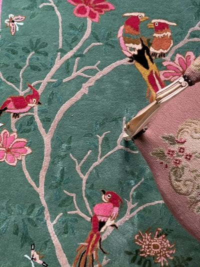 Jade Birdsong Chinoiserie rug by Wendy Morrison