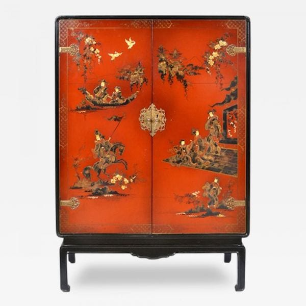 French Chinoiserie bar cabinet