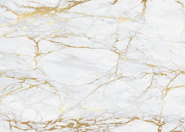 marble effect gold and white wallpaper