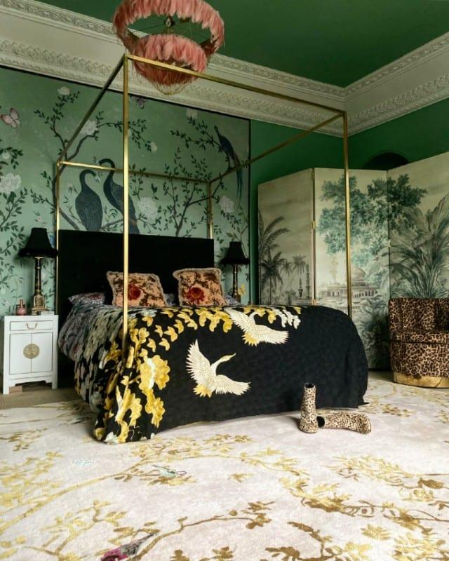 Secret Garden designer rug in bedroom