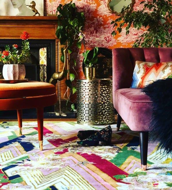 Shanghai Blossom rug by Wendy Morrison Design