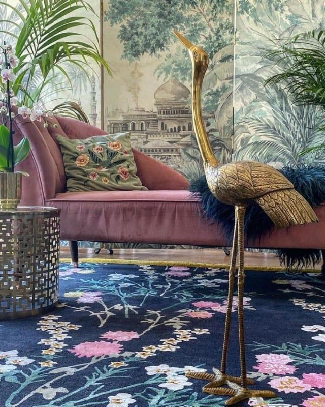 Flowers of Virtue designer chinoiserie rug
