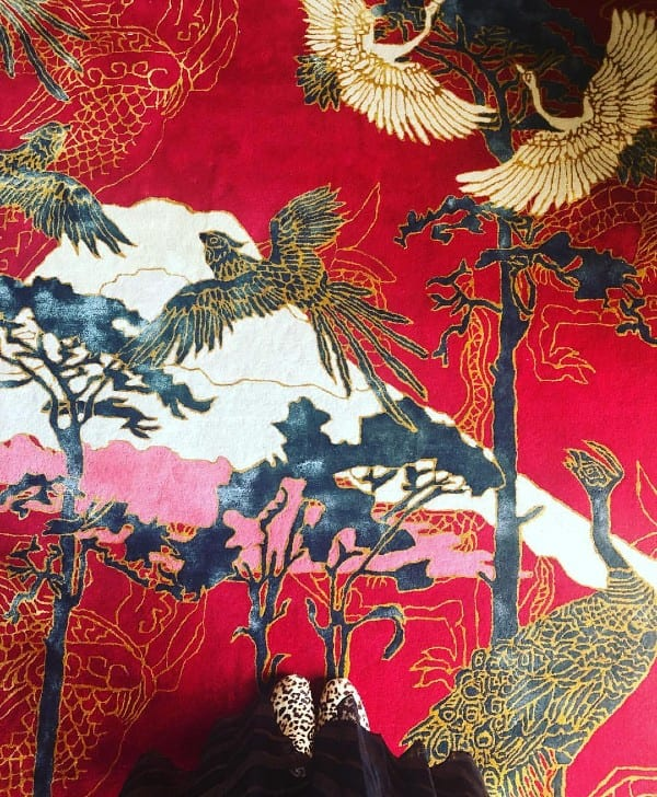 Good Fortune chinoiserie rug design