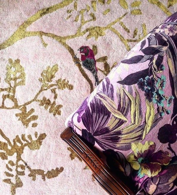 Secret Garden designer rug detail
