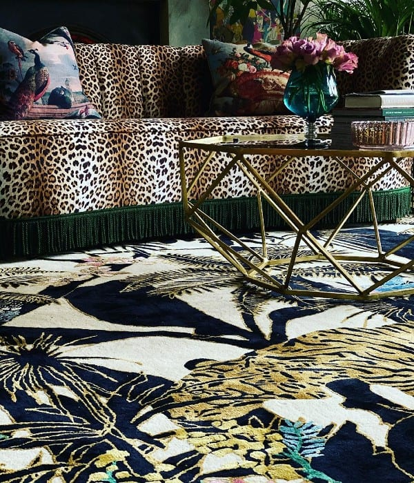 Dreams of the Jungle rug in living room