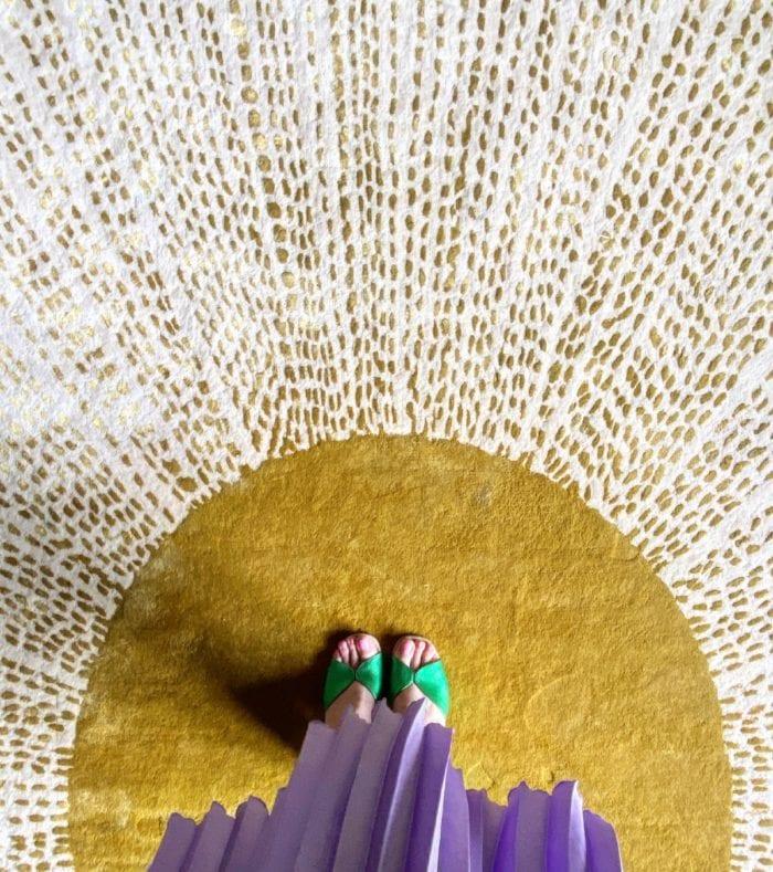 Sunburst designer rug by Wendy Morrison