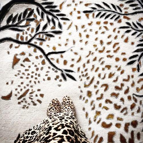 Leopard Gold designer leopard rug
