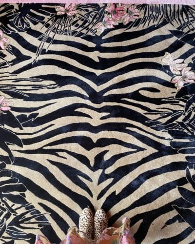 Tiger Florals exotic rug