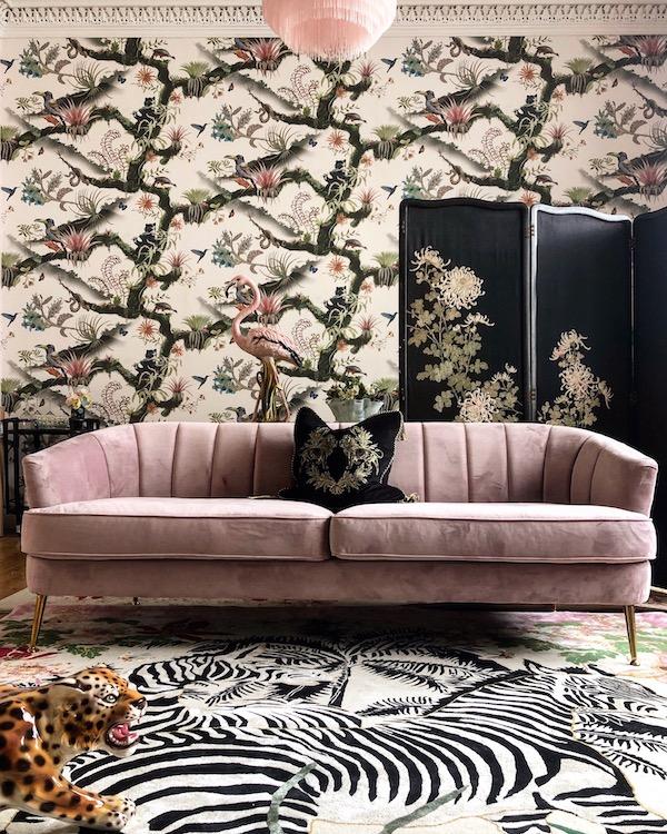 Zebra Waltz Hand-Made Designer Rug