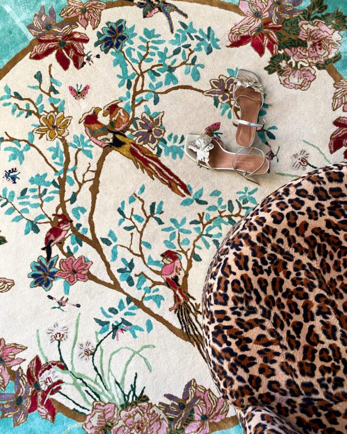 Okinawa circular rug detail
