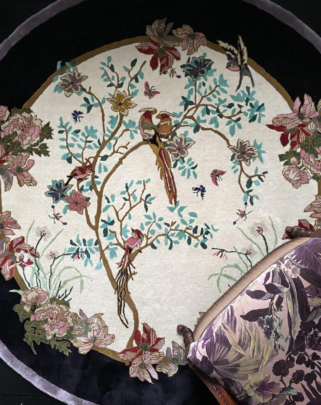 Circular, round rug