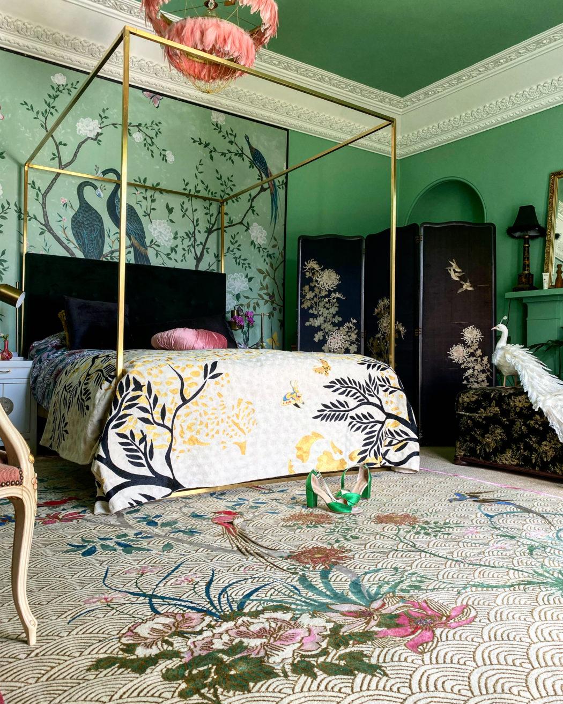 Luxury Handmade Rug in Maximalist Interior
