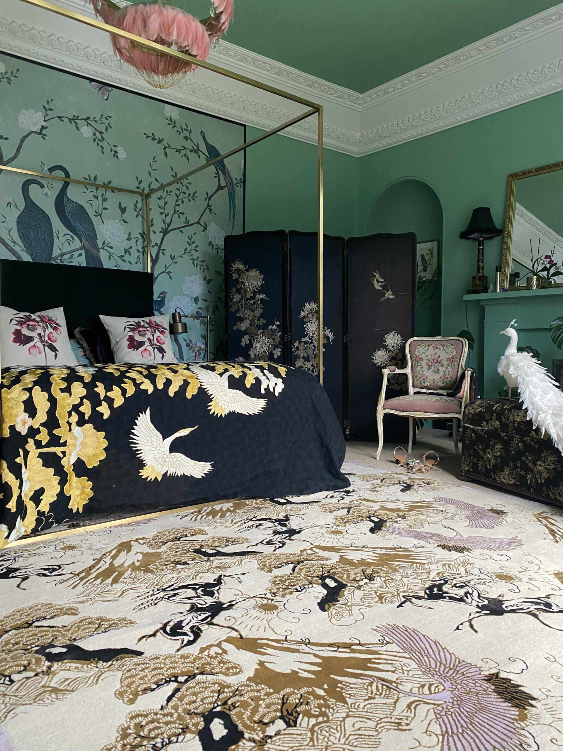 handcrafted bedroom rug