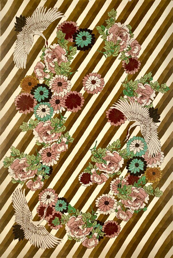 Close up of Kimono Gold Rug