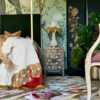 Handmade Kimono Rug in Bedroom