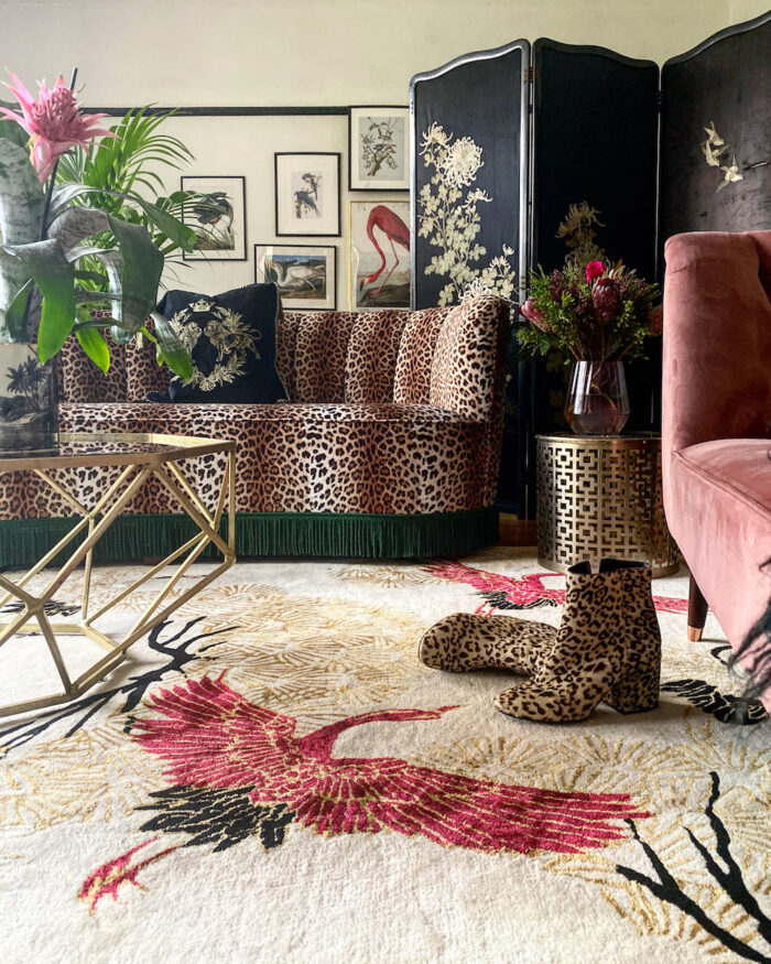 Bold Rug in Living Room