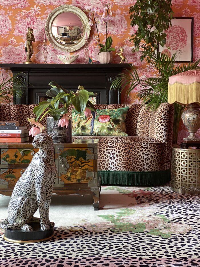 Colourful Cheetah-inspired Rug